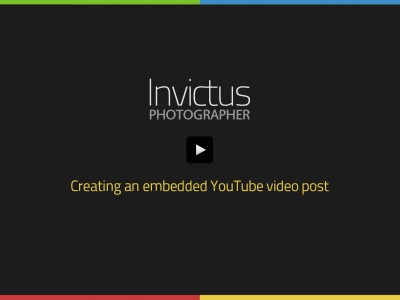 Creating an embedded YouTube video post
